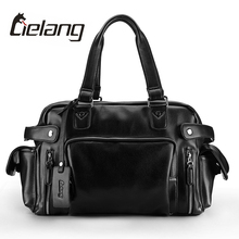 LIELANG 2017 New Brand Men Leather Shoulder Bag Male Casual Business Satchel Messenger Bag Vintage Men's Crossbody Bags Handbags(China)