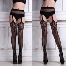 Buy 2018 Sexy Womens Lingerie net Lace Top Garter Belt Thigh Stocking Pantyhose New hot Brand New High Quality A0426