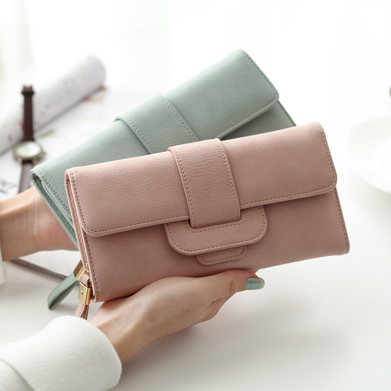 Simple fashion wallet female long more than thirty percent smoke fashion belt buckles wallet for large capacity lady hand bag<br><br>Aliexpress