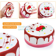 New Jumbo 13CM Kawaii Strawberry Chocolate Mousse Cake Squishy Slow Rising Sweet Scented Vent Charms Bread Kid Toy Doll Gift Fun