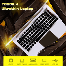 "TBOOK 4 Ultrathin Light Laptop Mini Gaming Business Notebook PC 14.1"" in 1080P 6GB 64GB Laptops For Intel Quad Core N3450 gamer(China)"