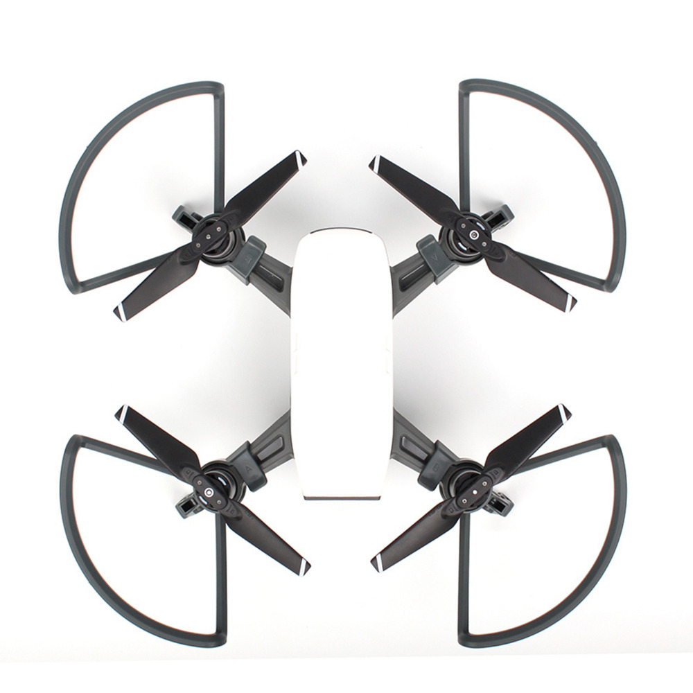 4Pcs 2 in1 for DJI SPARK Drone Propeller Guard Extension Landing Gear+Props Guards Protector for DJI SPARK Safe Flying Accessory