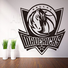 Art new design cheap home decor Dallas mavericks logo wall sticker removable house decoration USA Basketball decals in rooms