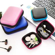 Coin Earphone Sd Card Usb Flash Disk Headset Storage Bag Zipper Case Colorful Portable Pouch Cable Protective Box Organizer Bags