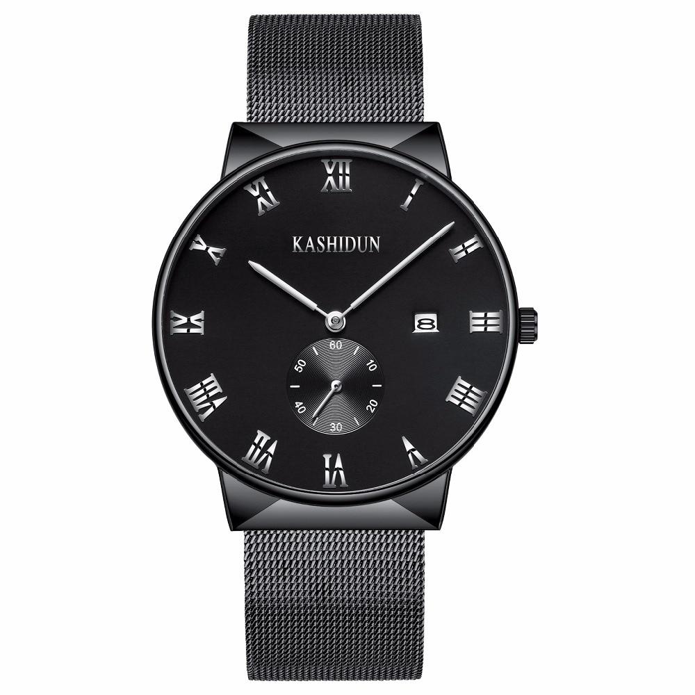KASHIDUN Mens Watches Luxury Top Brand Business Military Casual Wrist watch Waterproof Calendar Square Dial relogio masculino <br>