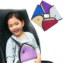 New Triangle Baby Kids Car Safe Fit Seat Belt Adjuster Device Auto Safety Belt Cover Child Neck Protection Positioner Breathable(China)