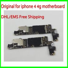 16GB Original Unlocked For iphone Cellphone Motherboard,For iphone 4 4g Mainboard with Chips,100% Test Good Working by DHL Ship(China)