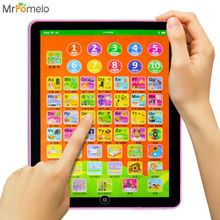 MrPomelo English Alphabet Language Sound Mini IPad Design Toys Tablet Children Learning Machine Baby Pad Toy Math Word Letter