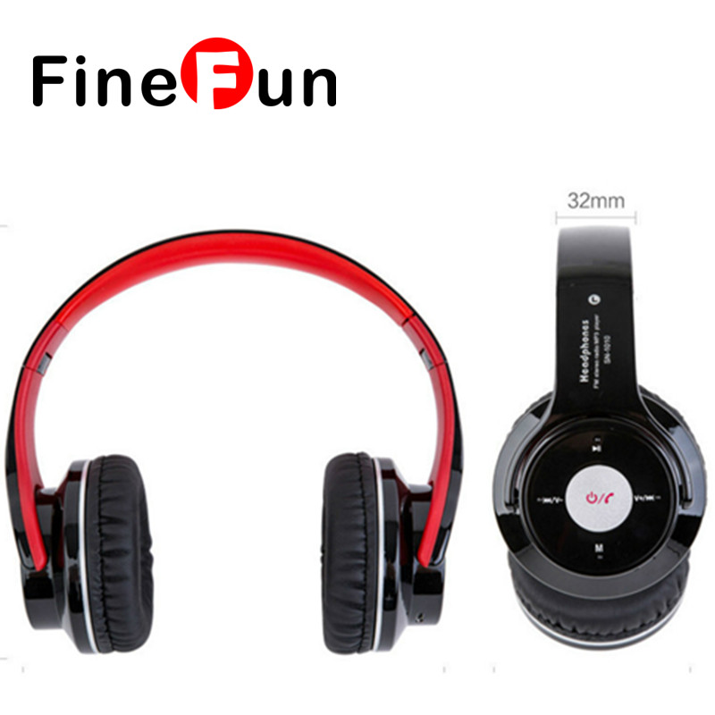 FineFun 2in1 Bluetooth Headset Wireless Stereo Earphone Headphone Microphone Speaker with TF Card for Smart Phones<br><br>Aliexpress