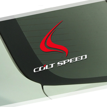 Fire Coltspeed Windows Car Body Sticker And Decal For Mitsubishi Asx Lancer 10 EX EVO Outlander i200 Pajero Auto Accessories