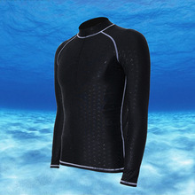 Mens Rash guard Long Sleeves Swimwear Surf Clothing Diving Suits Shirt Swim Suit Spearfishing Wetsuit Kitesurf Tee for Men 1611