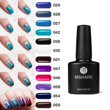 MSHARE UV Gel Nail Polish Red Blue Purple Grey 10ML Art Decoration Long Lasting German Material Lacquer Varnish Manicure MS013(China)