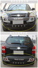 Auto BUMPER GUARD For Hyundai TUCSON 2006.2007.2008.2009.2010.2011.2012 High Quality ABS Guard Plate Front+Rear Car Accessories