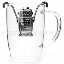 Creative Reuseable Foof Stainless Steel robot Tea Leaf Bag Holder Tea Coffee Herb Punch Filter Tea robot top quality
