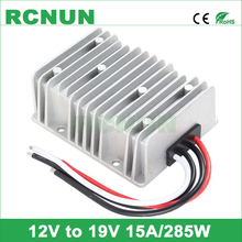 RCNUN DC to DC 12V to 19V 15A 285W Converter Boost Module, DC-DC Step Up Power Regulator Waterproof Car Laptop Power Supply