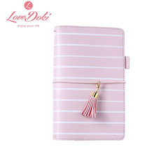 2017 New Arrive Spring TN Pink Blue Yellow Faux Leather Planner Travel Journal dokibook Hardcover Notebook With Filler Page(China)