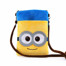 Plush cartoon cute children organizer money wallets small coin purses phone pouches bolsos bolsas carteiras for kids girls boys(China)