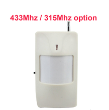 433mhz Wireless PIR Detector motion sensor Home Alarm Security Accessories alarm sensor PIR alarm for alarm system 315mhz option