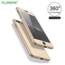 FLOVEME Luxury 360 Degree Full Body Protection Cover Case For iPhone 6 6s With Tempered Glass For iPhone 6S Plus Case Capa Coque
