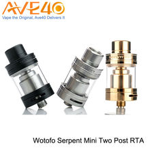 100% Original Wotofo Serpent Mini Atomizer 22MM 3ml Dual Adjustable Airflow Top Fill System Adjustable post RTA tank