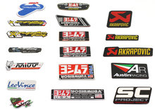 auto car mivv ar 3M yoshimura stickers leovince cbr twobrothers two brother Stickers AKRAPOVIC Motorcycle Exhaust Pipes Decal(China)