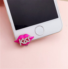 New Front Anti Dust Plug Rhinestone Dustproof Plug For For iPhone 4/4S/5/5C/5S/6/6S Mobile Phone Accessories