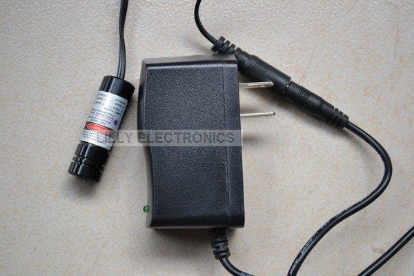 100mW 650nm 660nm Red Laser DOT Module w/AC 14.5x45mm<br>