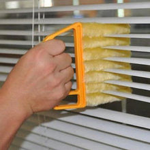 Creative Microfibre Venetian Blind Blade kitchen accessories Cleaner Window Clean Brush diagnostic-tool magnetic window cleaner(China)