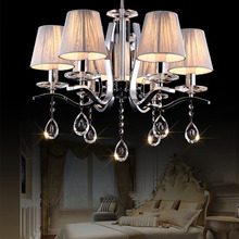 HGHomeart European Modern Crystal Lamp LED Chandelier Lustre Design Chandeliers Living Room Light Bedroom Suspension Lamp