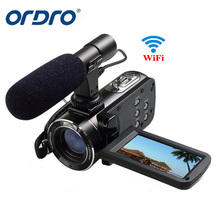 "Ordro Z20 3"" Touch Screen Digital Camera Full HD 1080P 24MP 16X Zoom Microphone Camcorder Video Cam DV Wifi with Remote Control"
