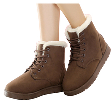 2016 New Winter Women Boots Ankle Cowboy Keep Warm Women Snowshoes Thick Winter Boots Fashion Flock Casual Shoes Female