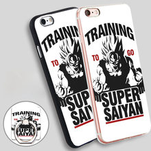 Training to go Super Saiyan Dragon ball Z Phone Ring Holder Soft TPU Silicone Case Cover for iPhone 4 4S 5C 5 SE 5S 6 6S 7 Plus