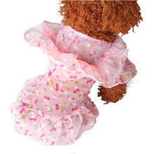 Dog Dress Puppy Chiffon Skirts Comfortable Sun Block Floral Teddy Pet Princess Clothes BS
