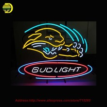 Bud Light NFL Jacksonville Jaguars Football Neon Sign Neon Bulb Glass Tube Handcrafted Sport Neon Lamp Glass Neon Lights 30x24(China)