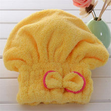 ISHOWTIENDA Home Textile 100% Organic Cotton Solid Hair Turban Quickly Dry Hair Hat Wrapped Bath Towel Superfine Hair Towels(China)