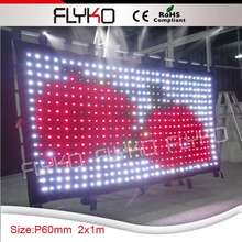 Free Shipping stage decoration ideas china sexy video curtain led curtain(China)