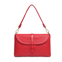 2017 Brand Fashion Woman Bag Promotional Ladies Luxury PU Leather Handbag Shoulder Bag Plaid Women Crossbody Bag ST202 Mei Red