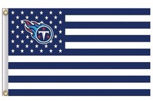 Tennessee Titans US flag with star and stripe 3x5 FT Banner(China)