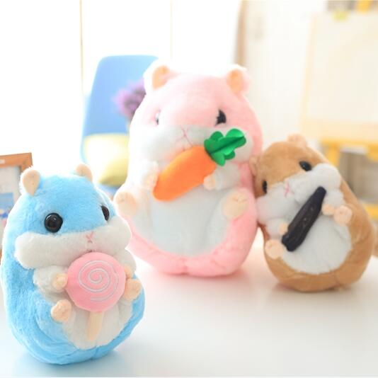 1pc 22cm Lovely Plush Hamster Toys Cute Stuffed Guinea Pig Couples Toys Childrens Day Gift Kids Doll Girls Gift<br><br>Aliexpress