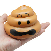Cute Squishy Poo Soft Slow Rising Squeeze Healing Toys Stress Reliever Squeeze Toy Kids Halloween Jokes Fun Gifts Drop Shipping(China)