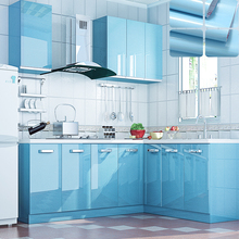 Modern Kitchen Cupboard DIY Pearl sky blue Wallpaper Roll Vinyl Wallpaper Furniture Stickers Decorative Film Contact Paper
