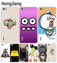 HongJiang Funny Pug Life cell phone Cover Case for huawei honor 3C 5A 4A 4X 4C 5X 6 7 8 Y6 Y5 2 II Y560(China)