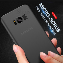 Matte Transparent Back Full Case For Samsung Galaxy S8 Plus S7 S6 Edge Note 8 Case Protective Cover For Samsung S7 Note 8 Capa(China)