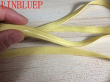 10mm Width 5 Yards Yellow Silicone Gripper Elastic Shoulder Strap Tape Accessories Wide 10mm Dropshipping(China)