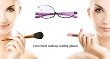 WEARKAPER Brand Makeup Magnifying Glasses Degree Folding Reading Cosmetic Glasses Oculos de grau Women Reading 1.0-4.0