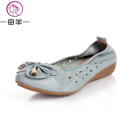MUYANG Chinese Brand size(35-42) Summer Shoes Woman Genuine Leather Flat Sandals Soft Comfortable Flats Women Sandals<br><br>Aliexpress