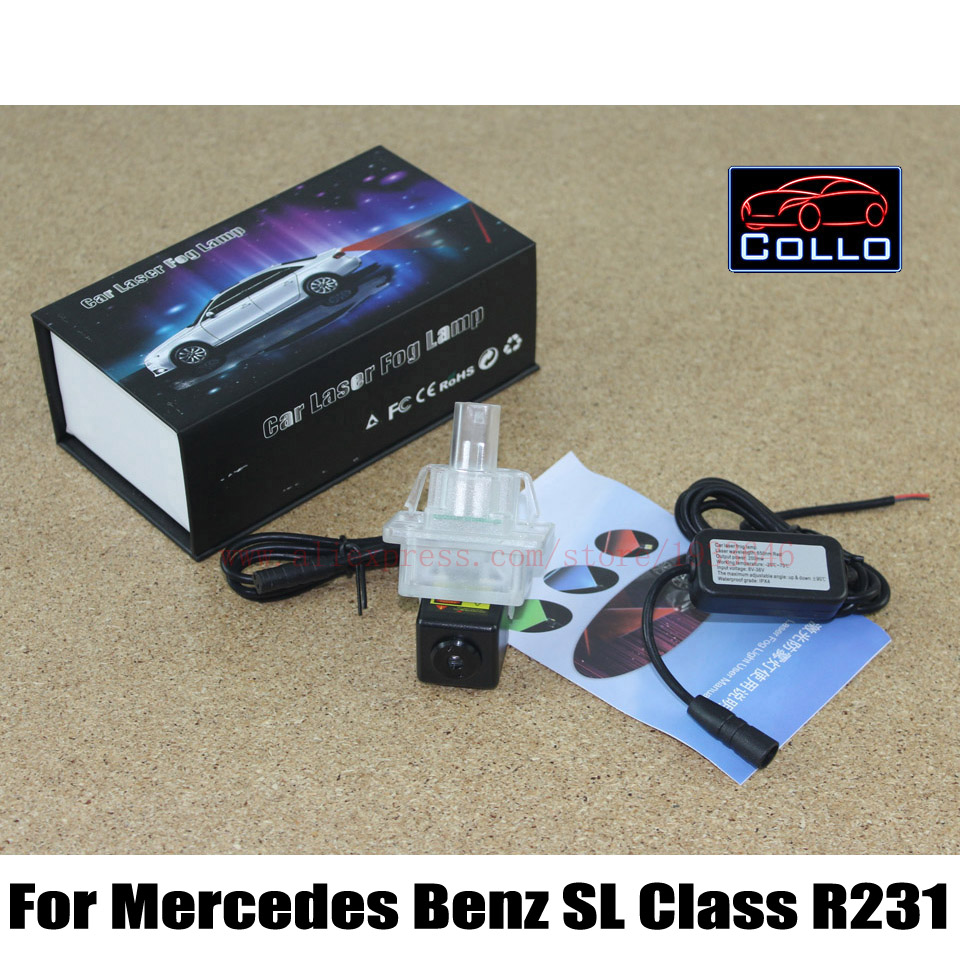 Anti Collision Rear-end Laser Fog Lamp For Mercedes Benz SL Class R231 2012~2017 Auto Accessories Brake Parking Warning Lamp<br><br>Aliexpress
