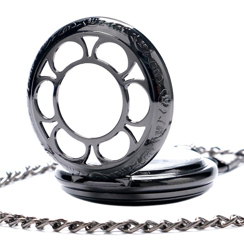 YISUYA Luxury Steampunk Hollow Skeleton Mechanical Pocket Watch Roman Numerals Dial Vintage Fob Chain Pendant Clock Men Women Gifts (6)