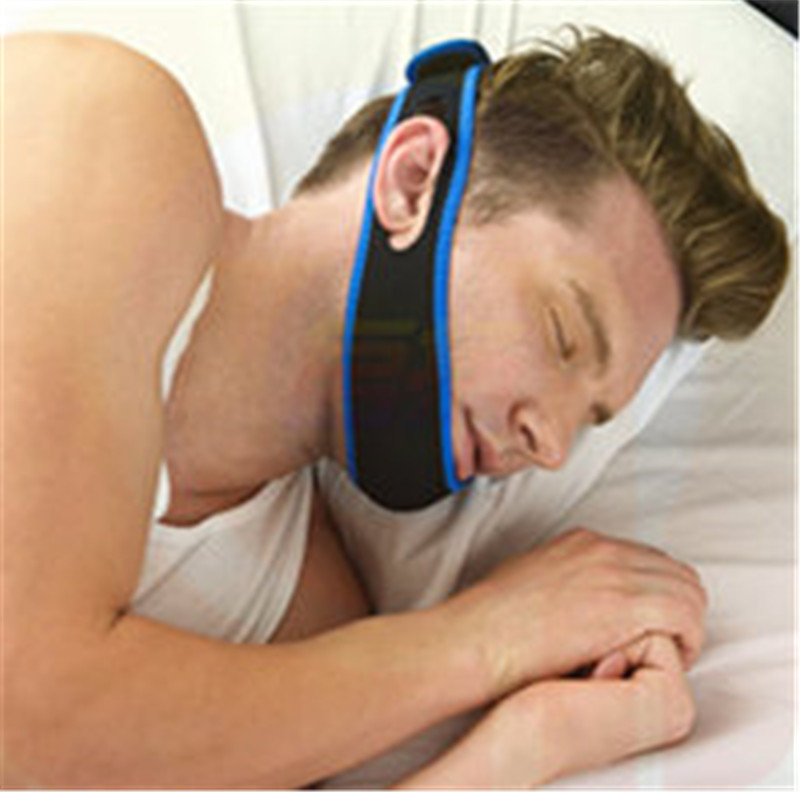 Image New Anti Snore Stop Snoring Chin Strap Snore Stopper Belt Anti Apnea Jaw Solution Sleep Support