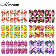 Luminous Adhesive Nail Stickers Decals,2sheets Flowers Glitter Full Cover Foil Polish Nail Patch Art,Manucure Nail Decorations